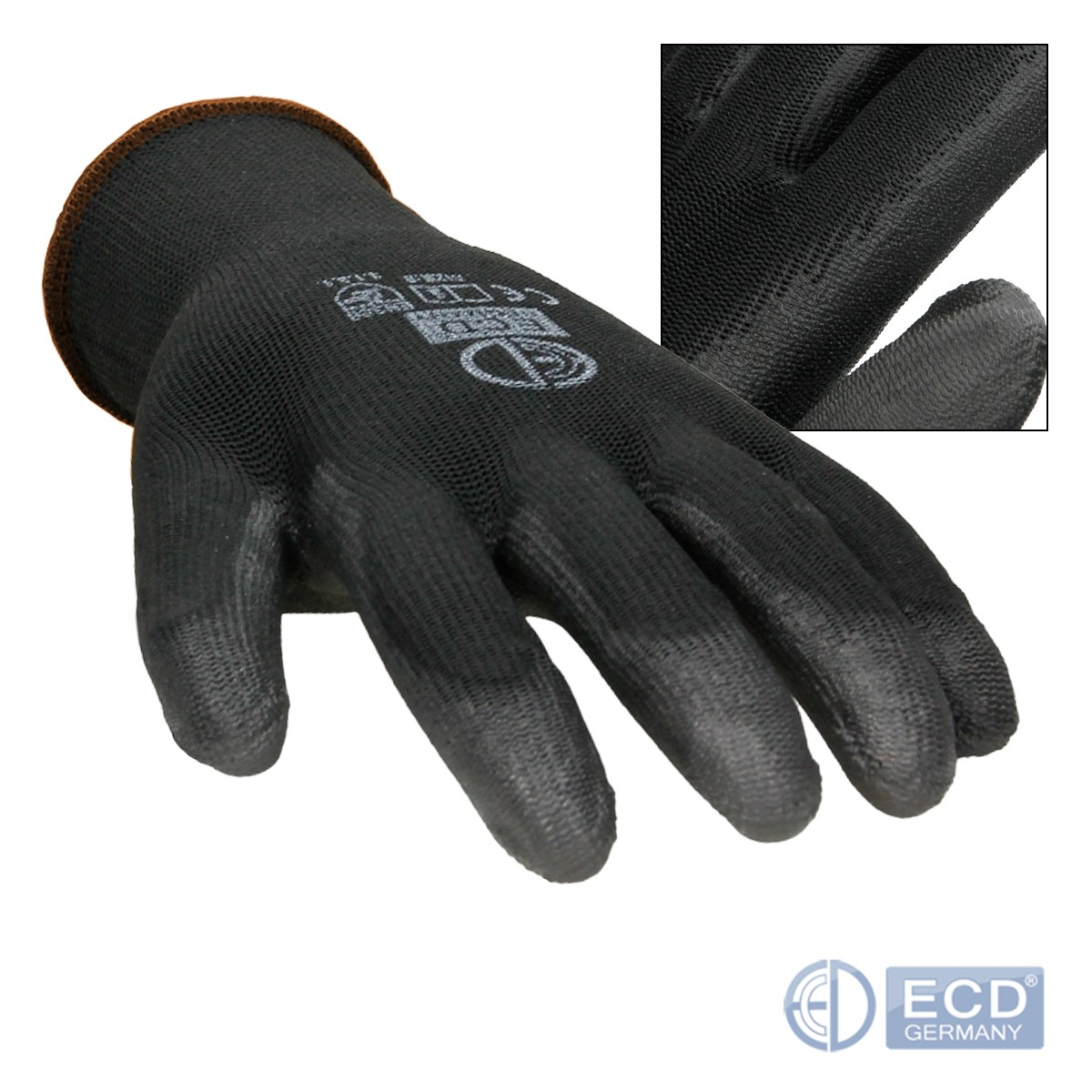 12x-gris-negro-blanco-PU-guantes-de-montaje-para-mecanica-versatiles-tamano-7-11