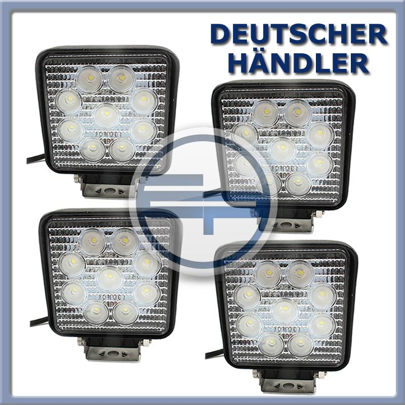 4St-LED-27W-Arbeitsscheinwerfer-Arbeitsleuchte-weiss-DC12-24V-Traktor-Bagger