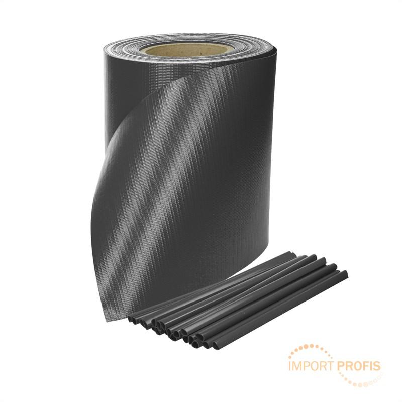 sichtschutz rolle sichtschutzstreifen zaunfolie pvc windschutz doppelstabmatten ebay. Black Bedroom Furniture Sets. Home Design Ideas