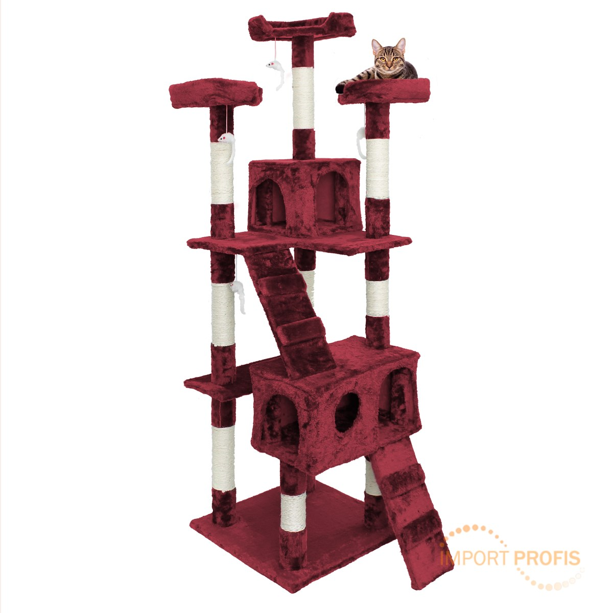 Cat-tree-activity-centre-scratcher-scratching-post-sisal-with-toys-bed-arch-XXL