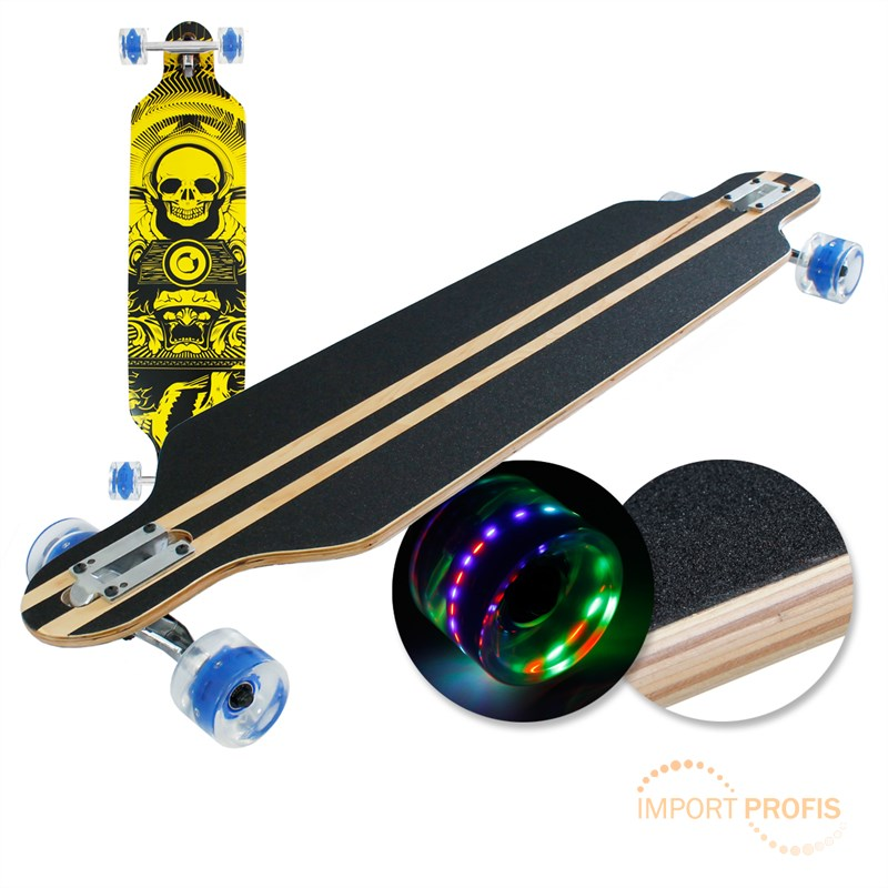 old longboard skateboards led rollen skate boards cruiser abec 9 komplettboard ebay. Black Bedroom Furniture Sets. Home Design Ideas