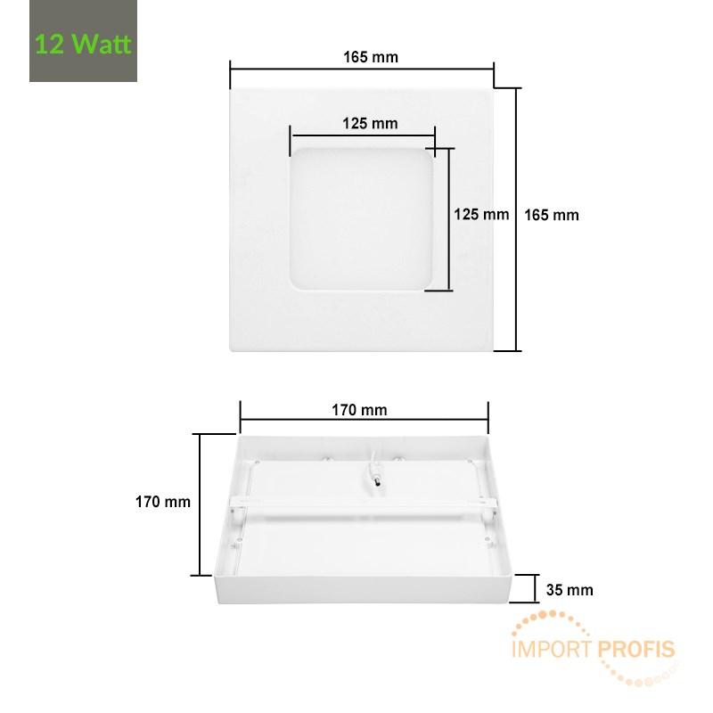 led panel 6w 12w 18w 24w aufputzlampe deckenlampe aufputz. Black Bedroom Furniture Sets. Home Design Ideas
