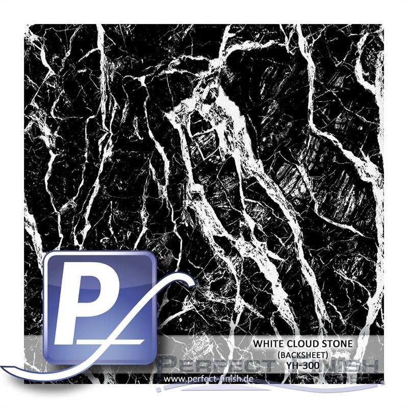 Wassertransferdruck Marmor Granit Folie fine white cloud stone YH 310 60cm 40µm