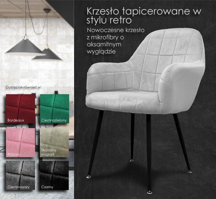 krzesło tapicerowane - fotel - krzesło jadalne