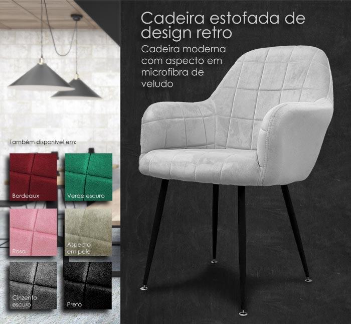 cadeira estofada - poltrona - cadeira de jantar