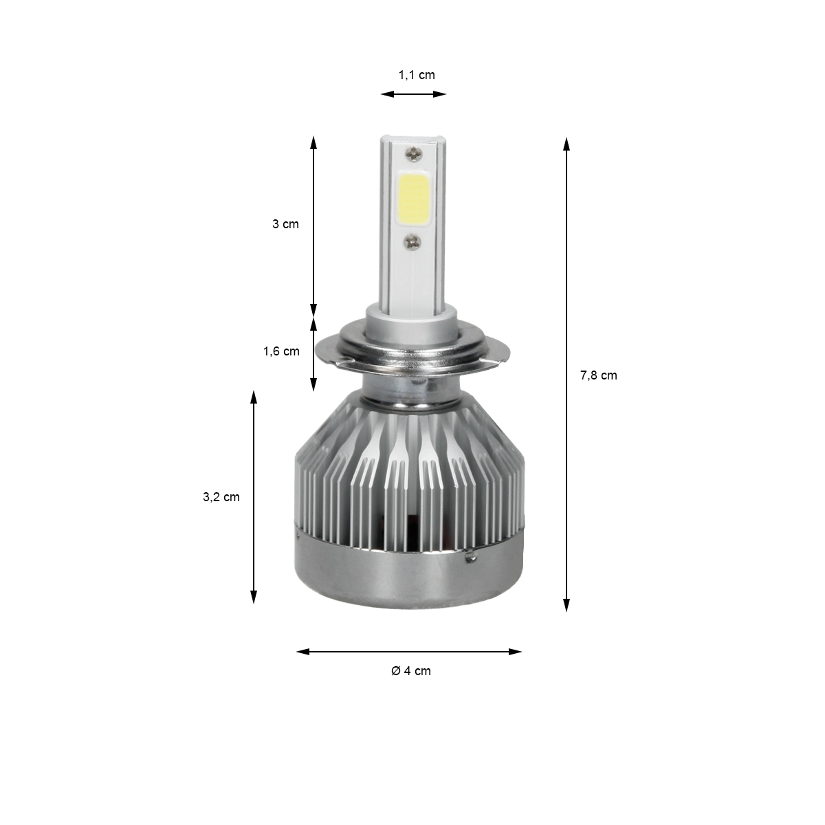 2 x h1 h3 h4 h7 30w led birnen auto scheinwerfer lichter. Black Bedroom Furniture Sets. Home Design Ideas