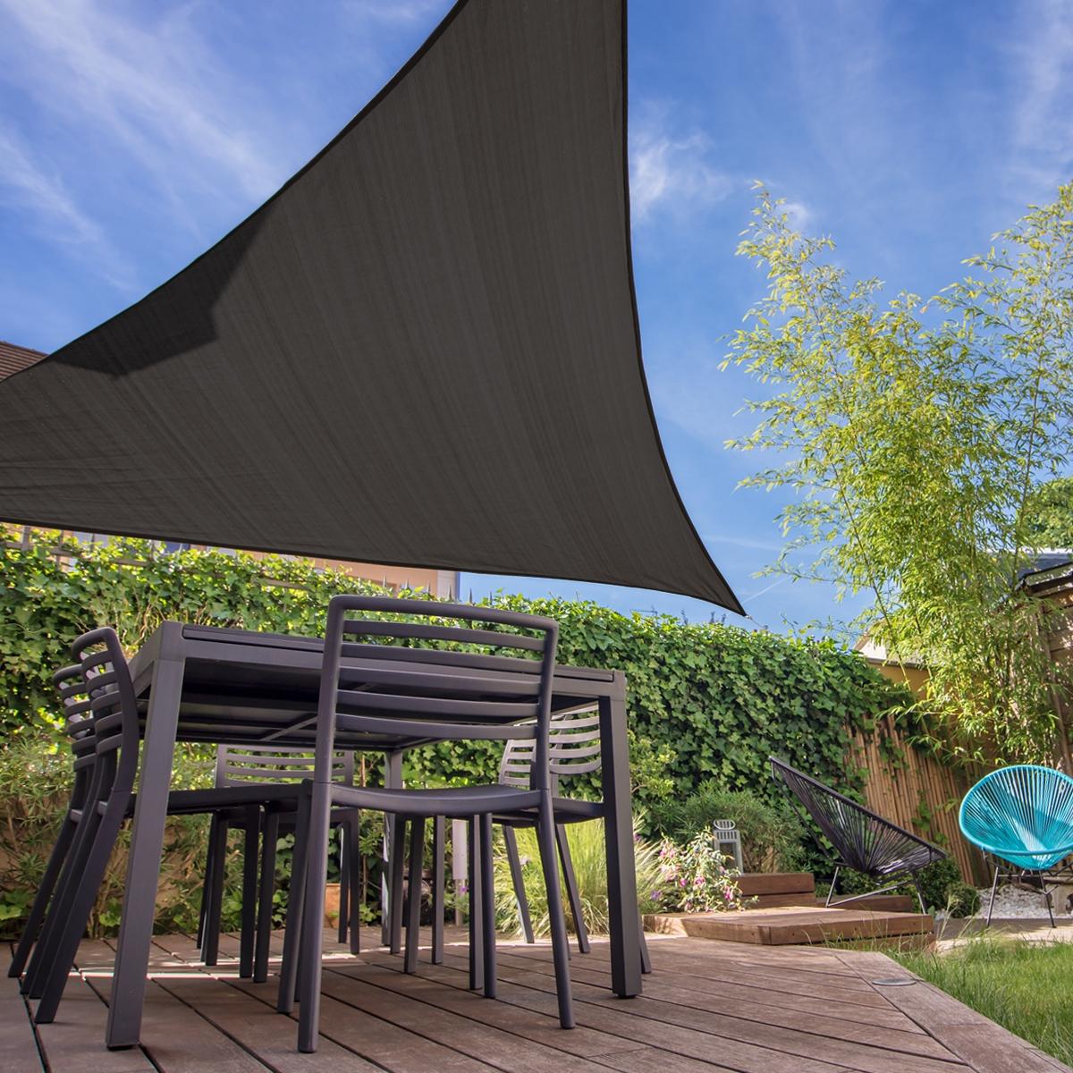 Jardin Voile Ombre Crème Solaire TRIANGLE Store 90/% UV Block Patio Extérieur Auvent