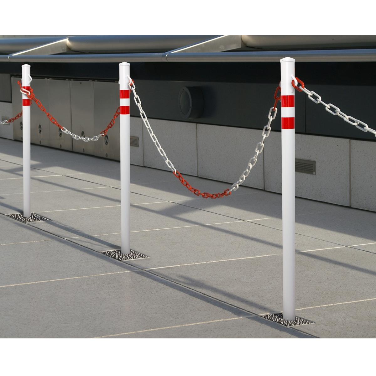 Détails sur Poteau barrière de parking ronde/carré 0,1,2 oeillets amovible  pliable bétonnage
