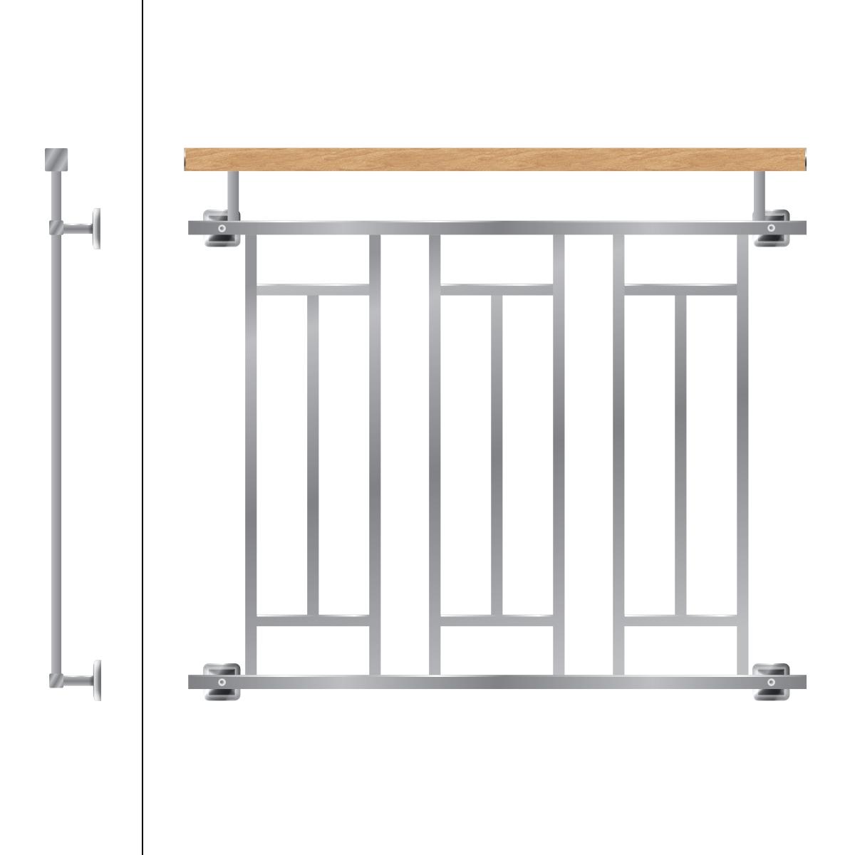 Details Zu Franzosischer Balkon Gelander Balkongelander Edelstahl Stahl Fenstergitter