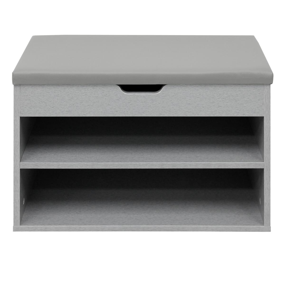 Details zu Armoire chaussures banc de rangement + coussin meuble d\'entrée  organisateur