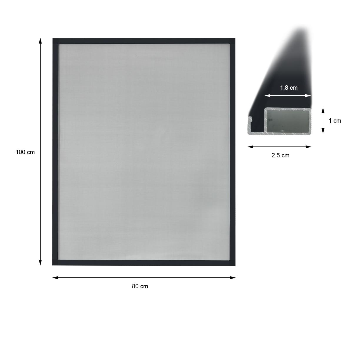 Mosquitera ventana aluminio antracita ral 7016 for Ventanas aluminio gris antracita