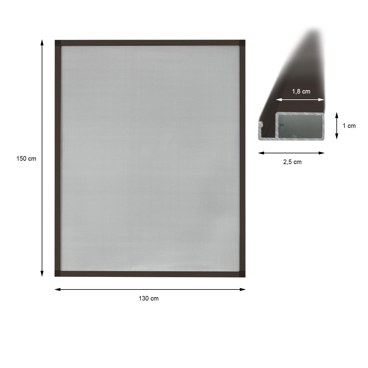 fen tres anti insectes moustiquaire cadre a choisir en aluminium marron blanc ebay. Black Bedroom Furniture Sets. Home Design Ideas