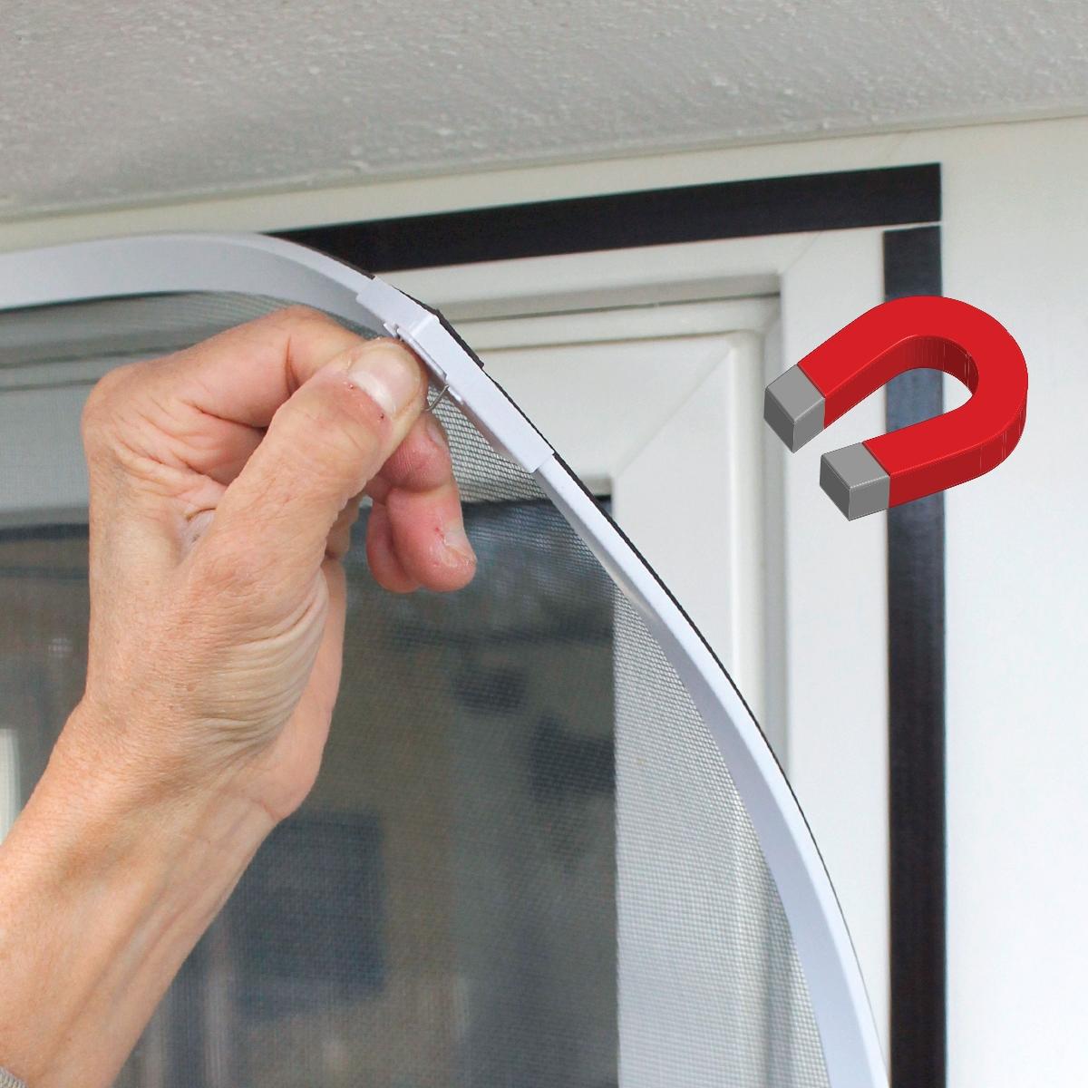 Fliegengitter Insektenschutz-Fenster Tür Alu Rahmen
