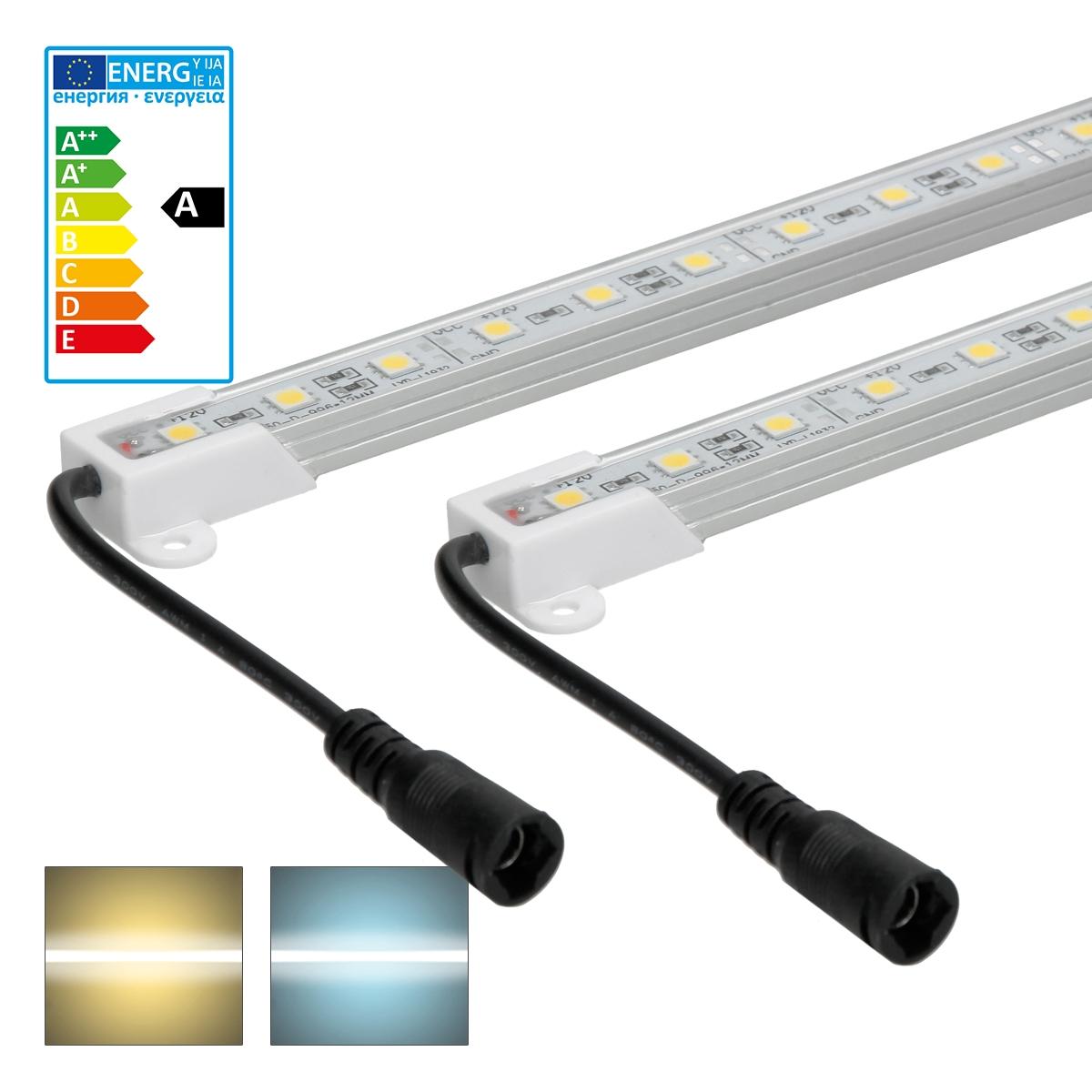 5x Unterbauleuchte Leiste Leuchte Lampe Lichtleiste 0,5m Unterbau Kaltweiß SMD