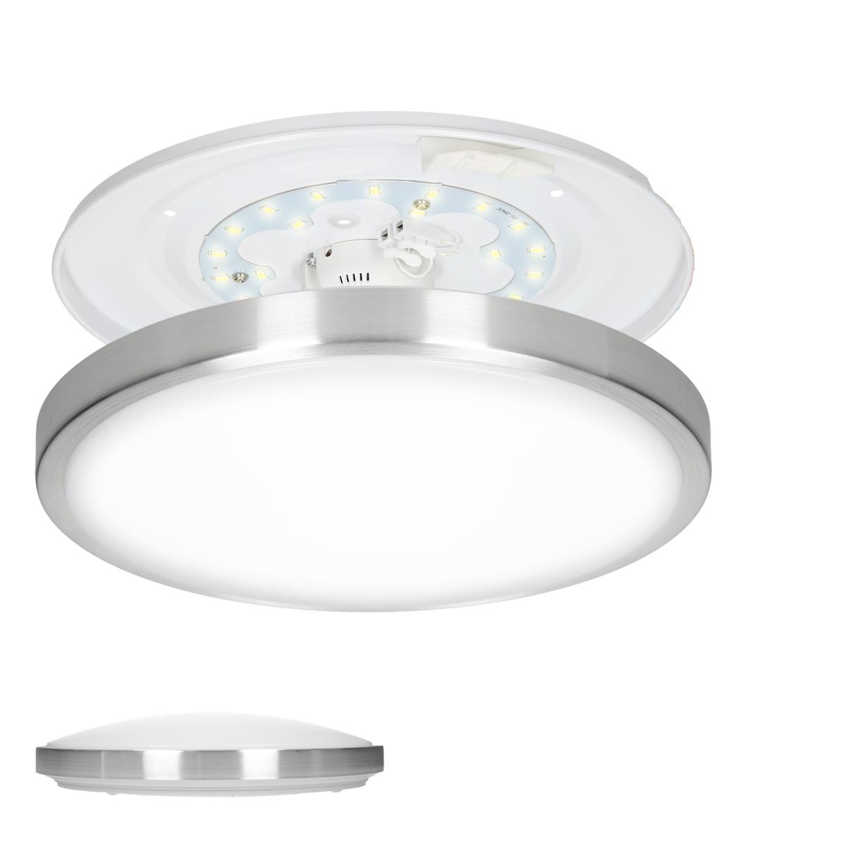 Led deckenleuchte lampe deckenlampe aufbaulampe 30cm 12w for Deckenlampe eckig led