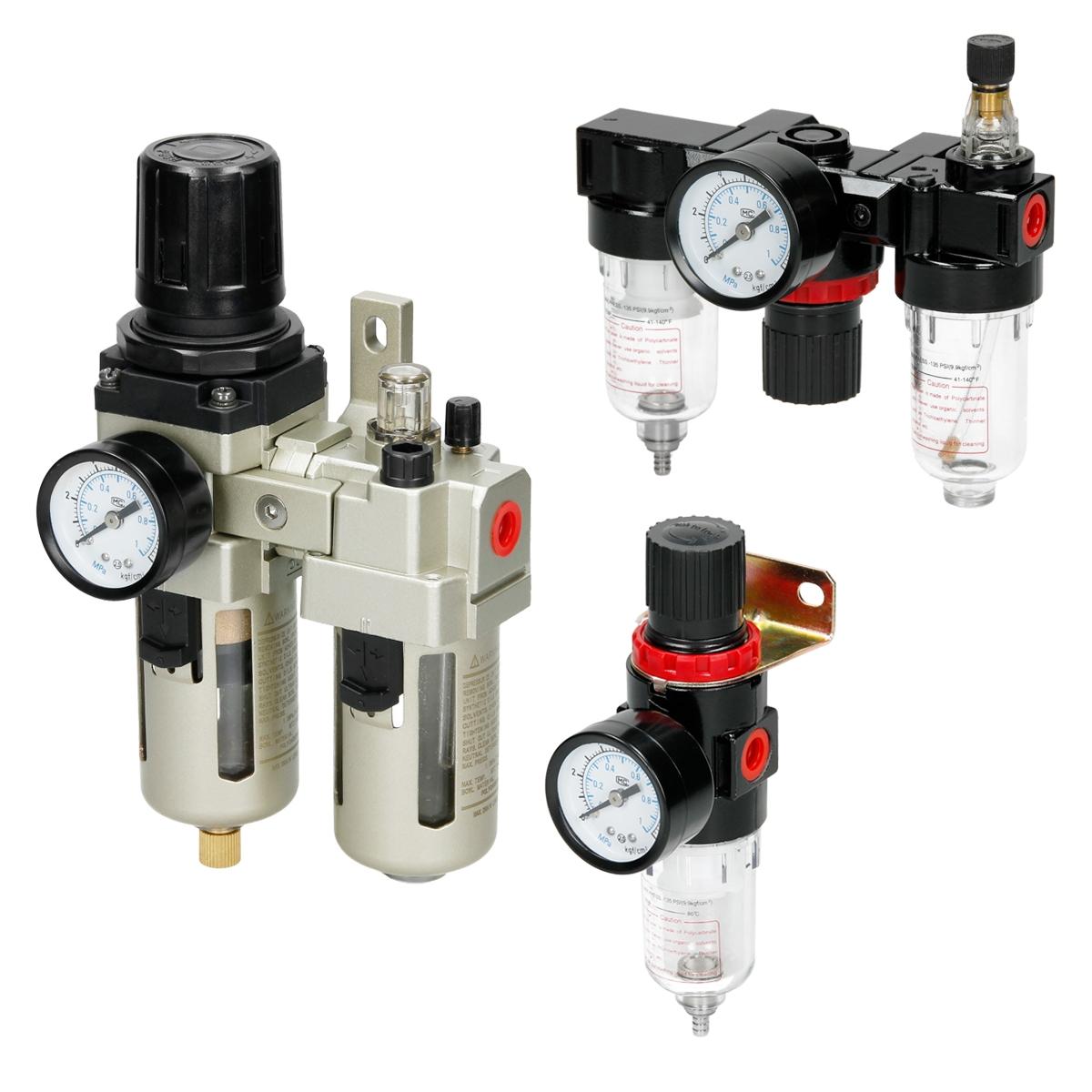 Druckluft Wartungseinheit-Druckminderer Wasserabscheider Öler Filter Kompressor