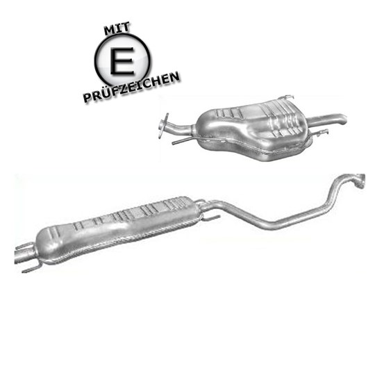 End+Mittelschaldämpfer Opel + Montagepaste