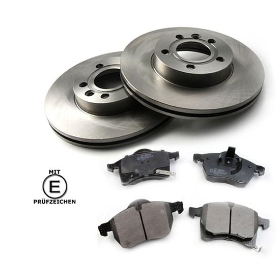Bremsscheiben + Bremsbeläge vorne Opel