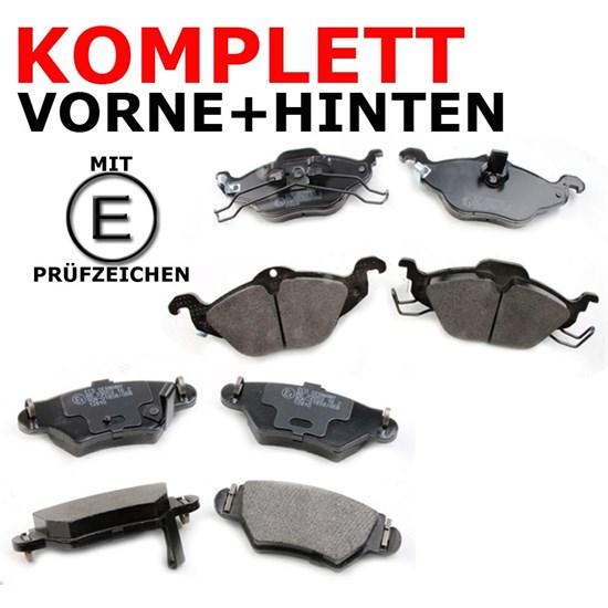 Bremsbeläge vorne + hinten Opel