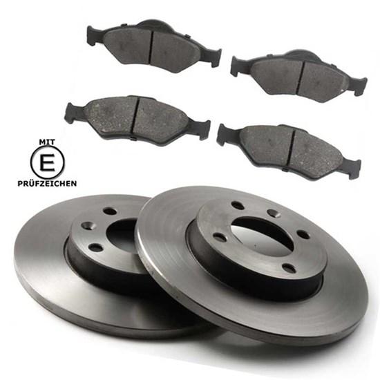 Bremsscheiben + Bremsbeläge voll vorne Mazda