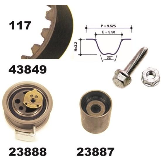 MAPCO 23849 Zahnriemensatz
