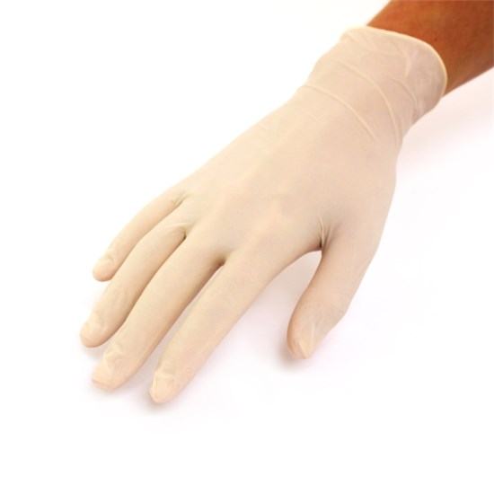 Latex gloves white pack of 100 | Size M