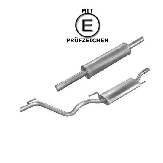 End + Mittelschalldämpfer VW + Montagepaste