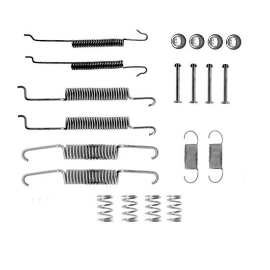 Bremsbacken+Radbremszylinder+Zubehörsatz hinten