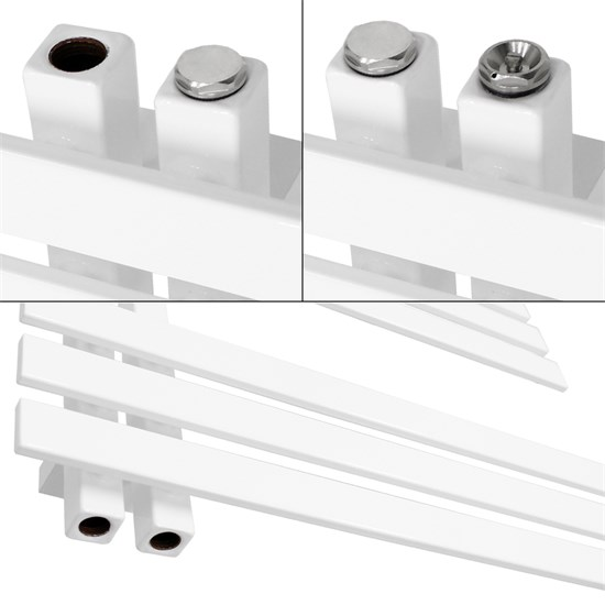Iron EM Design Badheizkörper Weiß 500 x 1600 mm