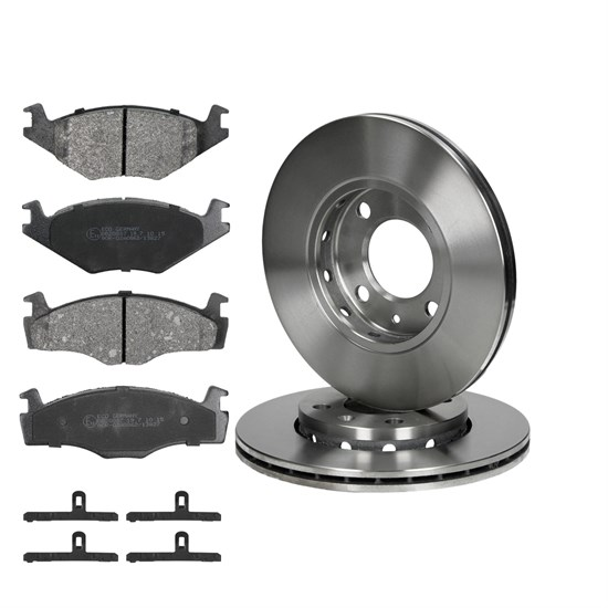 Bremsscheiben + Bremsbeläge VA  VW Polo