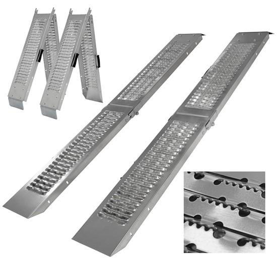 2er Set klappbare Auffahrrampe 180 cm, belastbar bis 400 kg, aus Stahl