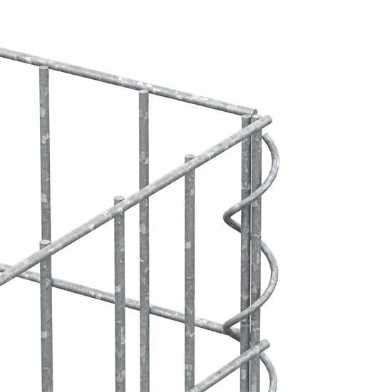 Gabione 200x25x25 cm, aus galvanisch verzinktem Stahldraht