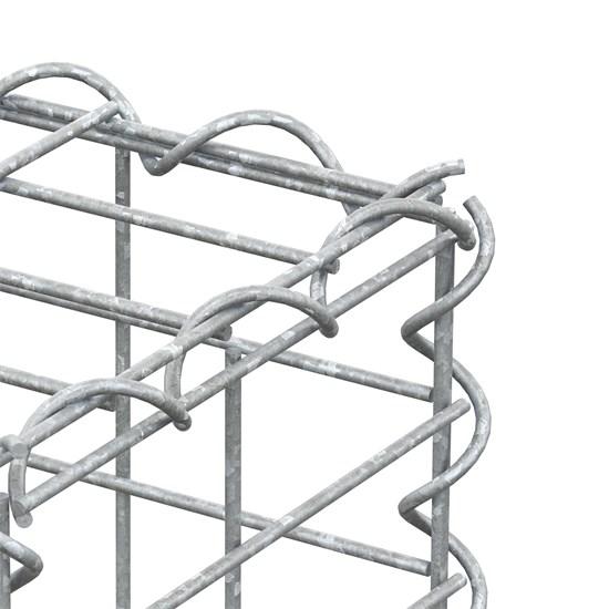 Gabione 100x20x20 cm, aus galvanisch verzinktem Stahldraht