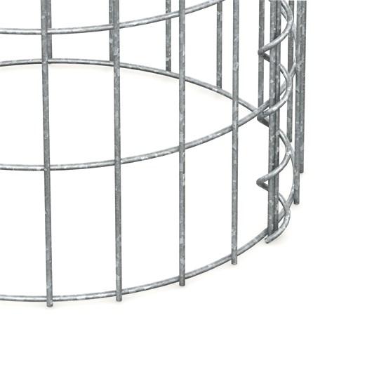 Gabionen Säule Rund, 35x100 cm, aus galvanisch verzinkter Stahldraht