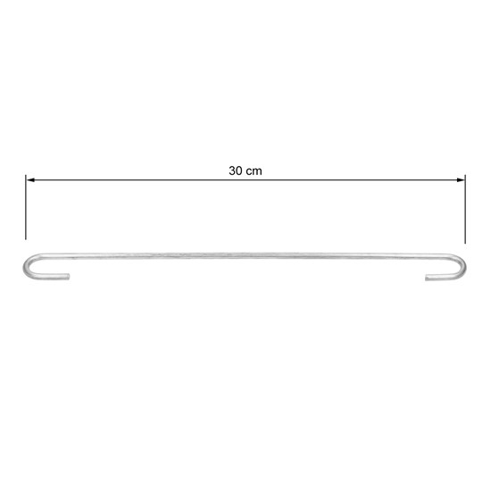 10er Set Gabionen Distanzhalter, 30 cm, aus verzinkter Stahl