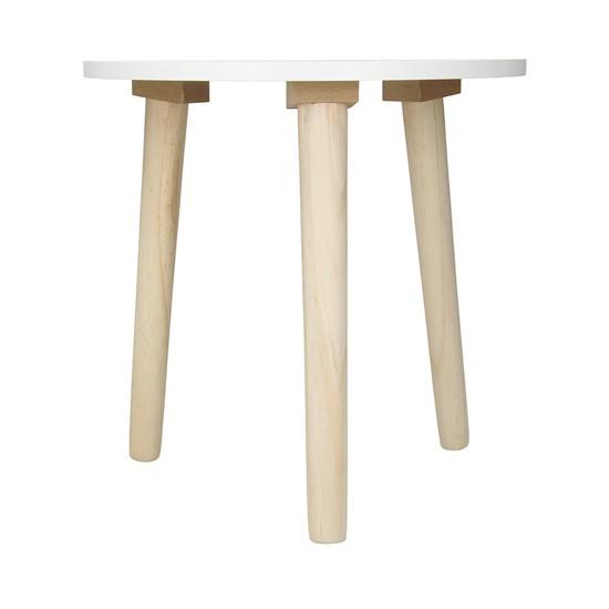 Beistelltisch 2er Set Ø 49/33 cm mit Beinen aus Kiefernholz