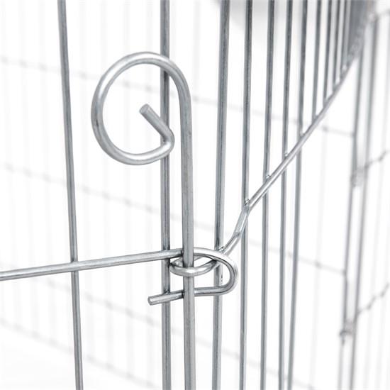 Freilaufgehege aus 6 Gittern für Kleintiere, 70x60 cm, aus Metall verzinkt