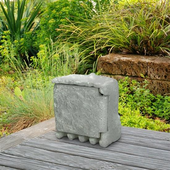 Außensteckdose in Steinoptik Grau
