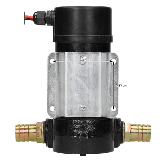 Dieselpumpe 155W 10,5x13x20 cm schwarz aus Gusseisen