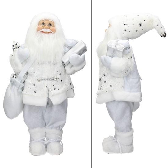 Weihnachtsmann 42x28x80 cm weiß aus Polyresin