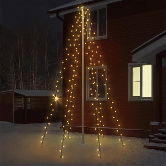 LED Lichterkette Fahnenmastbeleuchtung 2,08m warmweiß mit 192 LED