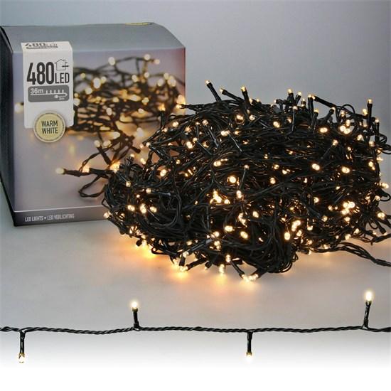 Weihnachtsbaumschmuck LED Lichterkette für Weihnachten 36m warmweiß mit 480 LEDs