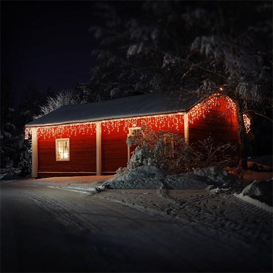 Weihnachtsdeko LED Lichtvorhang 12m warmweiß mit 360 LEDs aus PVC