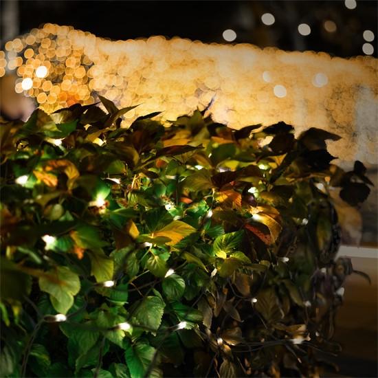 LED Lichtervorhang 1,5x3 m warmweiß mit 320 LED
