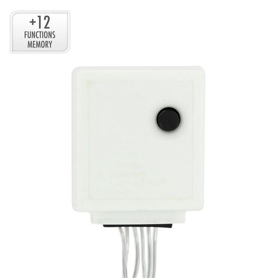 LED Lichtvorhang 2m kaltweiß mit 240 LED aus PVC