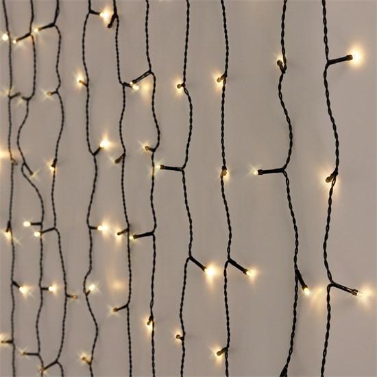 Weihnachtsdeko LED Lichtvorhang 6m warmweiß mit 180 LEDs aus PVC