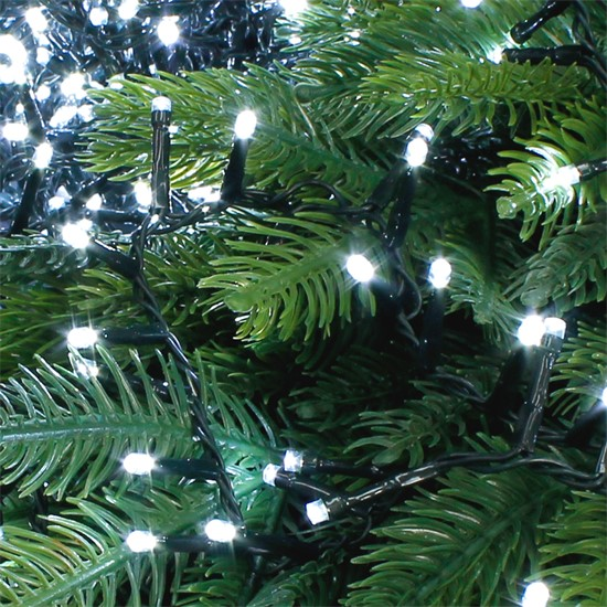 Christbaumschmuck LED Lichterkette 30m weiß 1500 LED Birnen