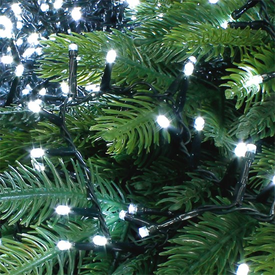 Christbaumschmuck LED Lichterkette 36m weiß 1800 LED Birnen