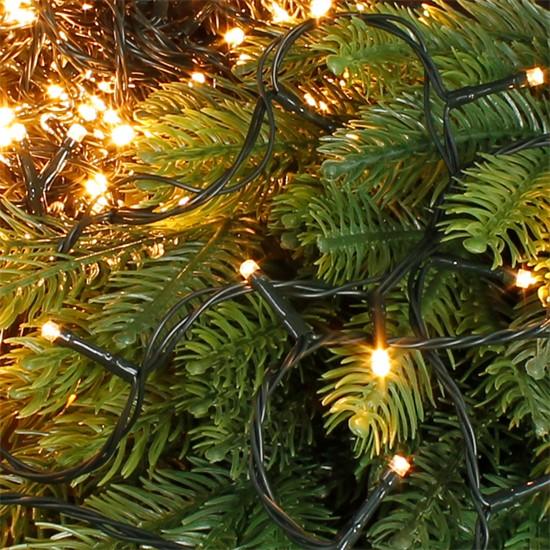 Weihnachtsbaumschmuck LED Lichterkette 11m warmweiß 560 LED Birnen
