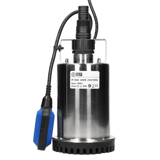 Schmutzwasserpumpe mit Schwimmerschalter 400W aus PVC
